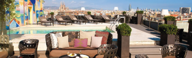Roof top terrace bars Barcelona